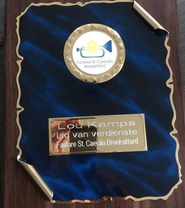Lou Kamps benoemt tot Lid van Verdienste
