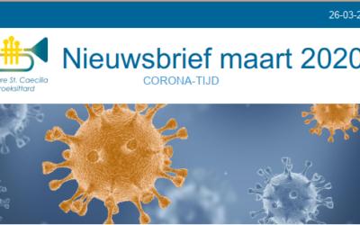 (Corona) Nieuwsbrief maart 2020